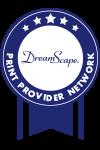 DreamScape Print Provider Network Badge (100Wx150H Pixels)