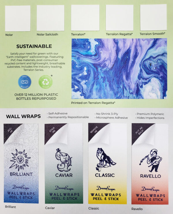 Product Brochure - Sustainable and Wallwrap Page